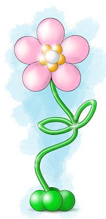 Нарисованный цветок из шаров